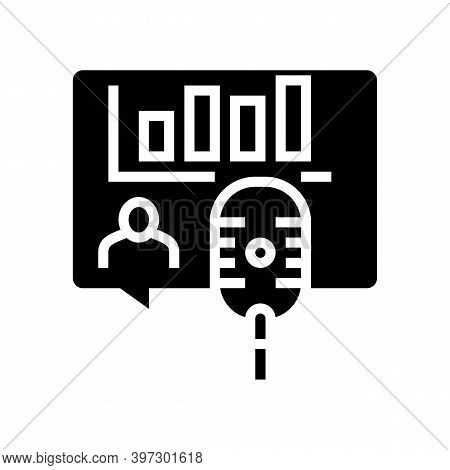 Speaking With Specialist On Radion Channel Glyph Icon Vector. Speaking With Specialist On Radion Cha