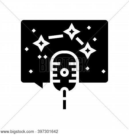 Horoscope Radio Channel Glyph Icon Vector. Horoscope Radio Channel Sign. Isolated Contour Symbol Bla