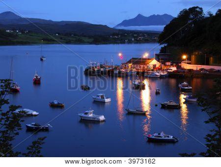 Portree Harbour Night