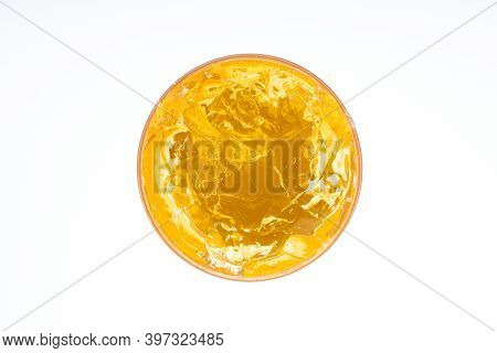 Yellow Body Gel Isolated On White Background