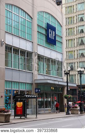 Chicago, Usa - June 26, 2013: The Gap Fashion Store In Chicago. Gap Inc Is The Largest Fashion Retai