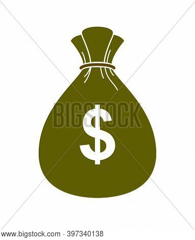 Moneybag Money Bag Vector Simplistic Illustration Icon Or Logo, Business And Finance Theme, Income T