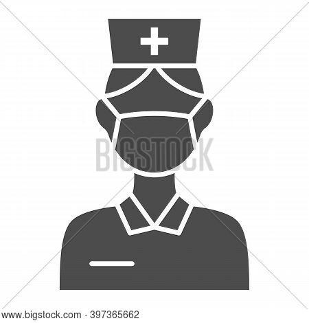 Nurse Solid Icon, International Dentist Day Concept, Female Dentist Sign On White Background, Nurse