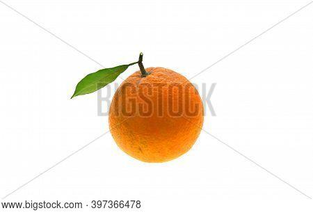 The Fresh Orange Isolated On White Background