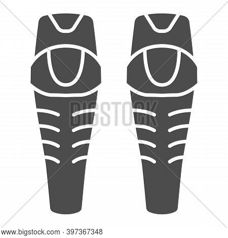 Snowboarder Protectors Solid Icon, World Snowboard Day Concept, Ski Arm Protectors Sign On White Bac