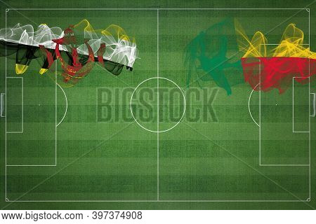 Brunei Vs Benin Soccer Match, National Colors, National Flags, Soccer Field, Football Game, Competit