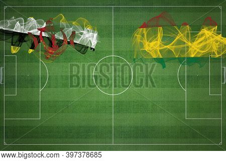 Brunei Vs Bolivia Soccer Match, National Colors, National Flags, Soccer Field, Football Game, Compet