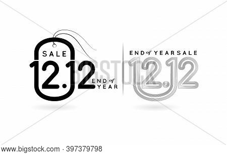 Tag 12.12 Sale, 12.12 Online Sale, Tag 1212 Monochrome And Label Monoline End Of Year Sale For Poste