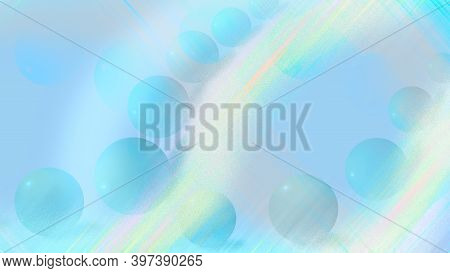 Delicate Delicate Blue Background.realistic Blue Sphere Or Circle Bubble Elements Pattern Background