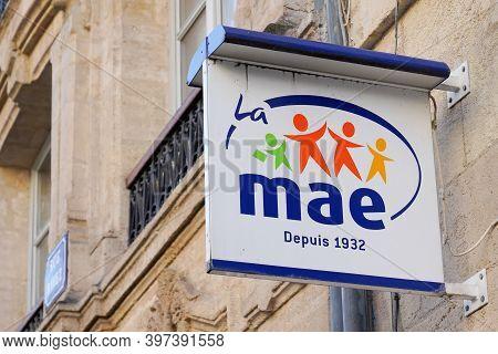 Bordeaux , Aquitaine  France - 11 21 2020 : Mae Mutuelle Assurance De L'éducation Sign And Text Logo