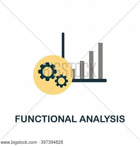 Functional Analysis Flat Icon. Simple Element From Project Management Collection. Creative Functiona