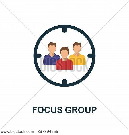 Focus Group Flat Icon. Simple Element From Project Management Collection. Creative Focus Group Icon
