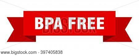 Bpa Free Ribbon. Bpa Free Isolated Band Sign. Bpa Free Banner