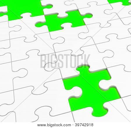 Unfinished Puzzle Showing Lost Pieces Or Unsolved poster
