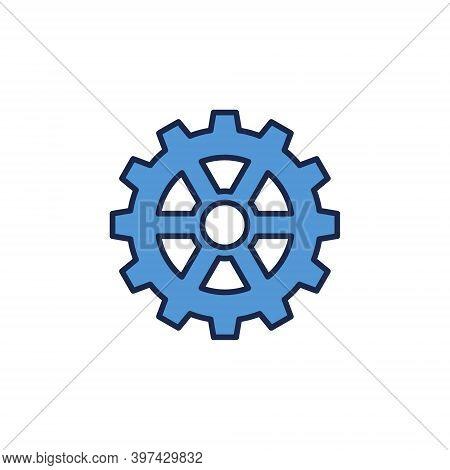Cog Wheel Vector Blue Concept Icon Or Logo Element