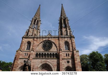 France, Church Of Obernai In Alsace