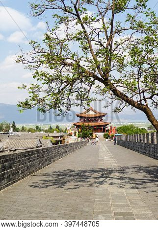 Dali City Wall In Spring, Yunnan, China