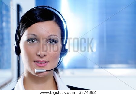 Woman And Call Centre