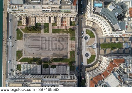 Aerial View Of Famous Aristotelous Square In Thessaloniki City