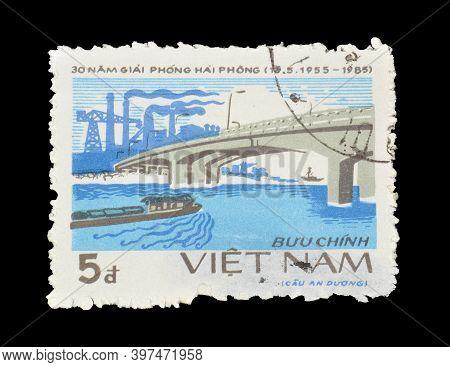 Vietnam - Circa 19885 : Cancelled Postage Stamp Printed By Vietnam, That Celebrates 30th Anniversary