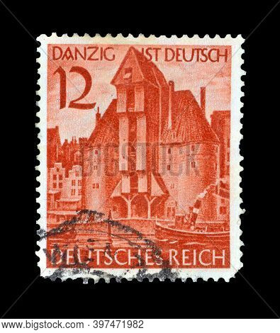 Germany, Realm - Circa 1939 : Cancelled Postage Stamp Printed By Germany, Realm, That Shows Krantor
