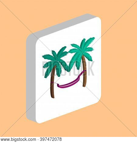 Hammock Simple Vector Icon. Illustration Symbol Design Template For Web Mobile Ui Element. Perfect C