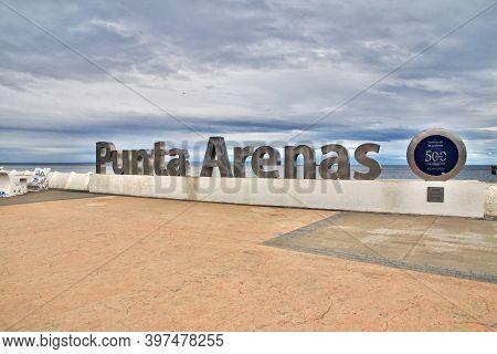 Punta Arenas, Patagonia, Chile - 21 Dec 2019: The Harbor Of Punta Arenas, Patagonia, Chile