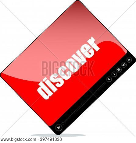 Video Player For Web With Discover Word