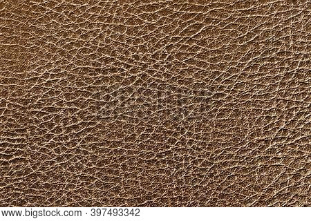 Brown Leather Texture. Animal Skin Background. Raw Textile Pattern.