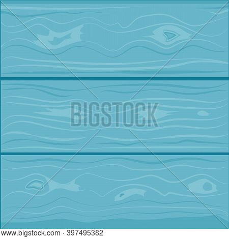 Wood Texture. Planks Of Turquoise Color, Trendy Background For Design. Vector Illustration
