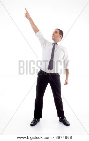 Standing Professional Man Pointing