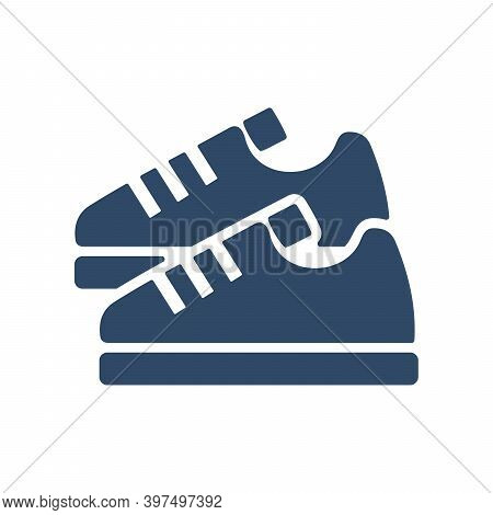 Sneaker Icon. Running Shoes. Fitness Sneakers. Flat Design For Jogging, Sport Concept.
