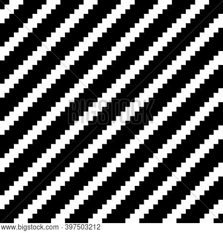 Zigzag Lines Background. Seamless Pattern. Jagged Stripes Motif. Diagonal Stripes Ornament. Curves I