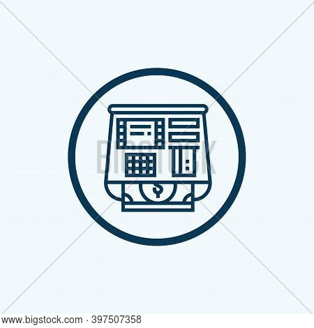 Atm Icon Isolated On White Background From Banking Collection. Atm Icon Trendy And Modern Atm Symbol