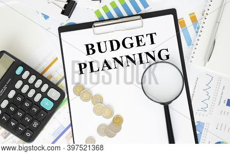 Budget Planning, Monthly Budget Planning 2021 With Calculator On Office Table