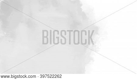 Artistic Background. Hand Drawn Watercolour Splotch. Abstract Banner In Watercolor Style. Black And