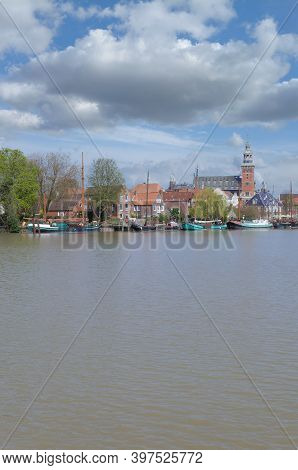 Town Of Leer In East Frisia,lower Saxony,germany