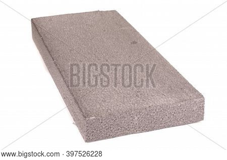 Block Of Thermal Insulation With Graphite Polystyrene For Thermal Insulation Of House Walls Isolated