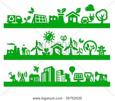 green city icons