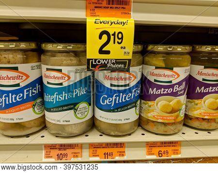Honolulu -  November 27, 2017:  Manishewitz Gefilte Fish, Whitefish And Pike, And Matzo Ball Soup Fo