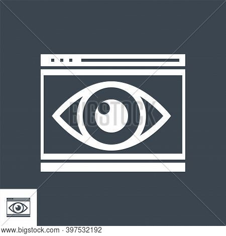 Web Visiblity Related Vector Glyph Icon. Isolated On Black Background. Vector Illustration.