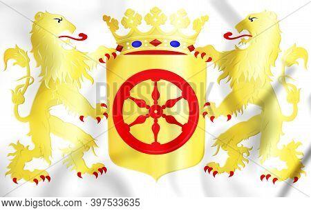 3d Heusden Coat Of Arms (north Brabant), Netherlands. 3d Illustration.