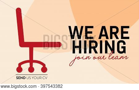 Join Our Team, We Are Hiring Vector Background. Eps 10