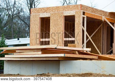 Construction Of A Plywood House Plank Framework