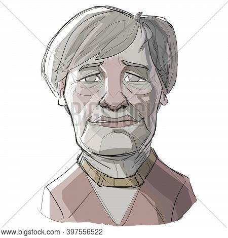 Dec 1, 2020, Auckland, New Zealand: Caricature Illustration Of Angela Dorothea Merkel, A German Poli