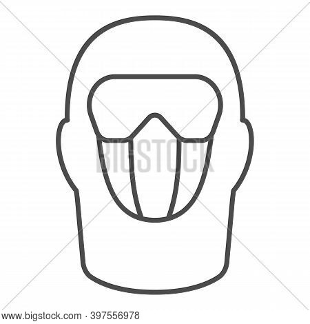 Snowboarding Balaclava Thin Line Icon, World Snowboard Day Concept, Winter Wear For Active Lifestyle