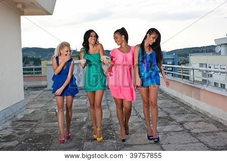 Four Happy Friends