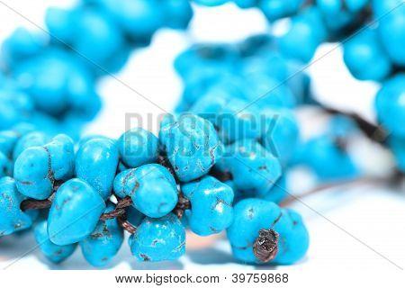 Blue Bracelet On White Background