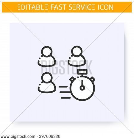 Fast Customer Service Line Icon.quick Client Supporting And Maintenance.problem Solving Support Grou