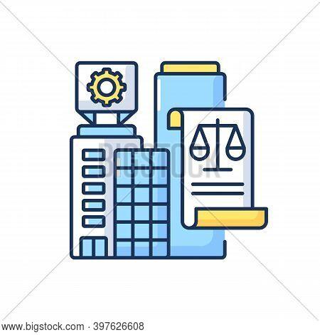 Legal Entity Rgb Color Icon. Modern Entrepreneurship, Business Office Rent Contract. Professional La